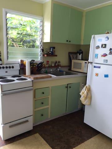 Cosy 1 bedroom apt above garage 2 mn to beach - Waimanalo - Dom