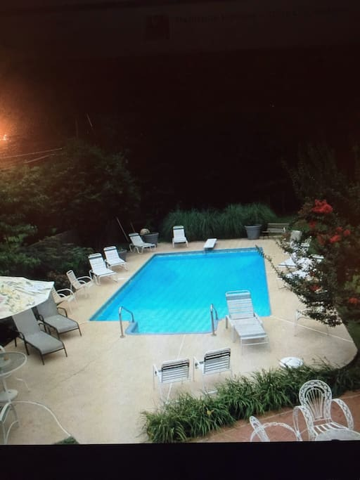 Private pool available middle of May till  after labor day in September. Dates vary depending on weather