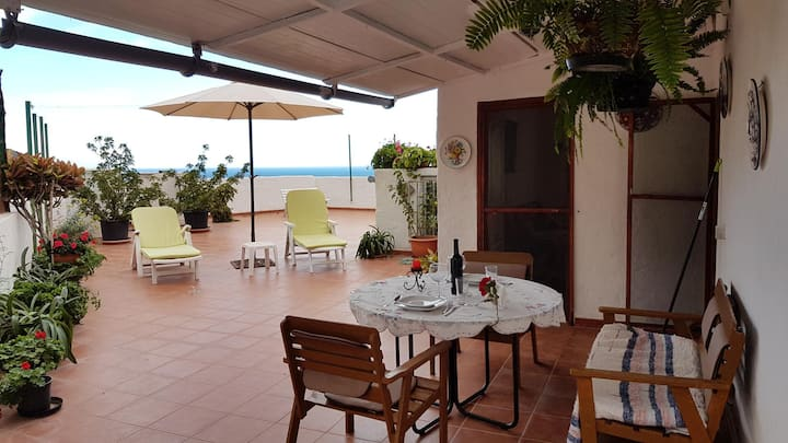 Attic with great terrace in Risco Agaete