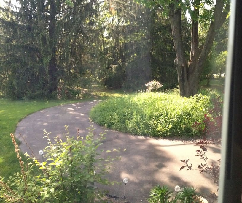 Need to park your RV or Trailer for the night and can't find a spot?  We have 5 acres of beautiful quiet grounds and we will share some with you for the night. We do not have any Hook Ups, or facilities. Just a parking spot for the night.