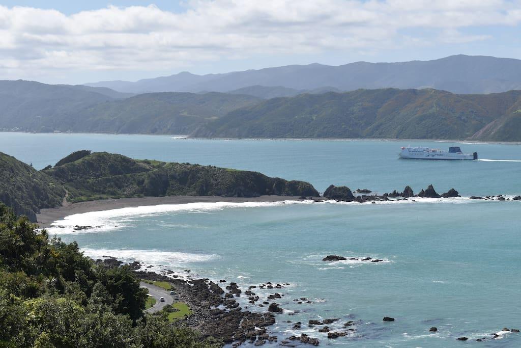 Stunning 180 degree sea and mountain views