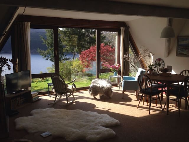 Bedroom & private lounge with Loch Ness view