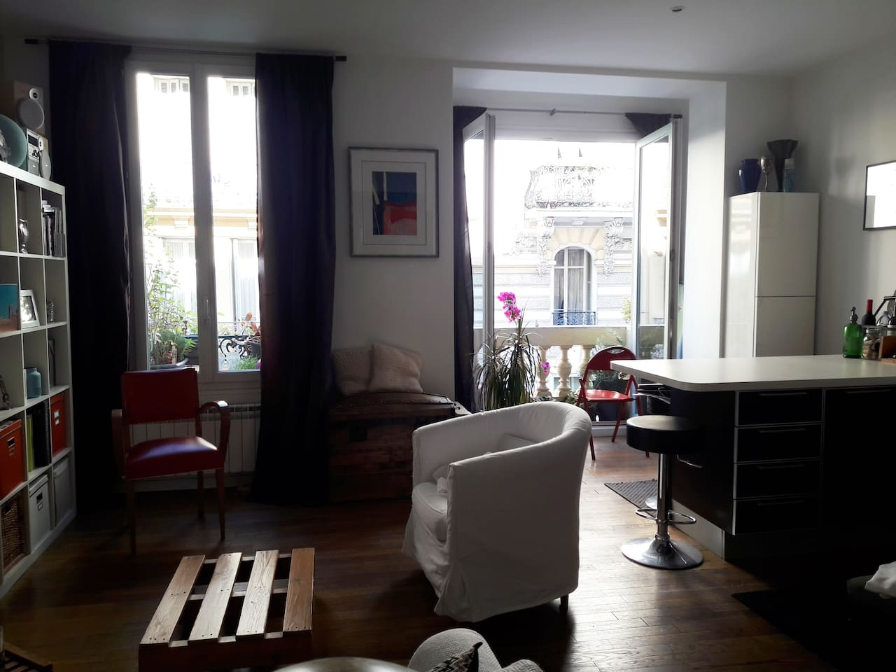 salon + cuisine | living room + kitchen
