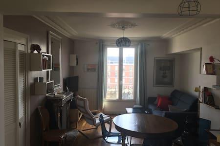 Chambre dans charmant appartement à 5' de Paris