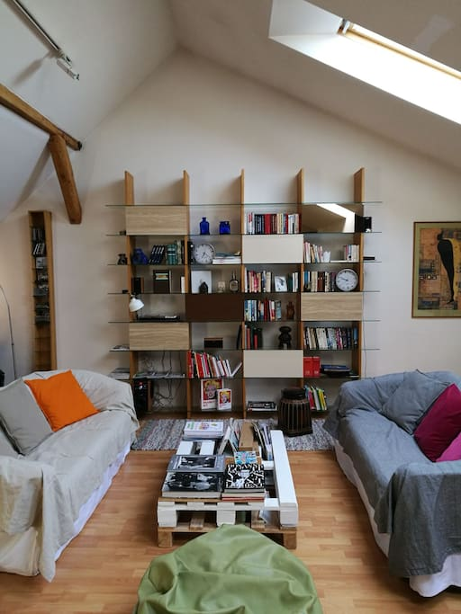 Relax and enjoy international books library in lounge atmosphere. French, Russian and Latvian literature as well as Arts books around Photography, Design and Fashion... more than 1000 books
