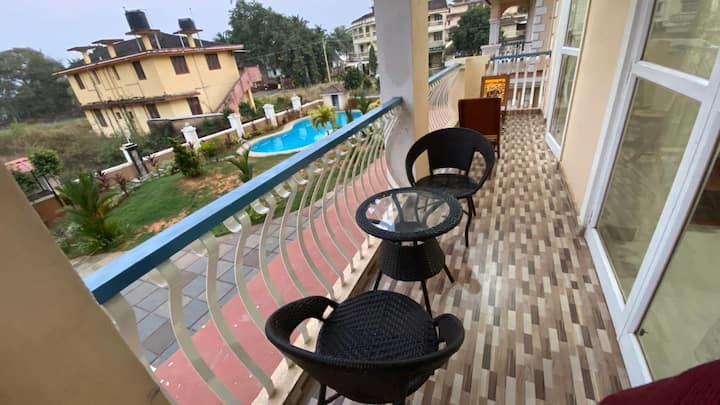 2BHK Apt w/Kitchen/50 MBPS Internet in Orlim, Goa