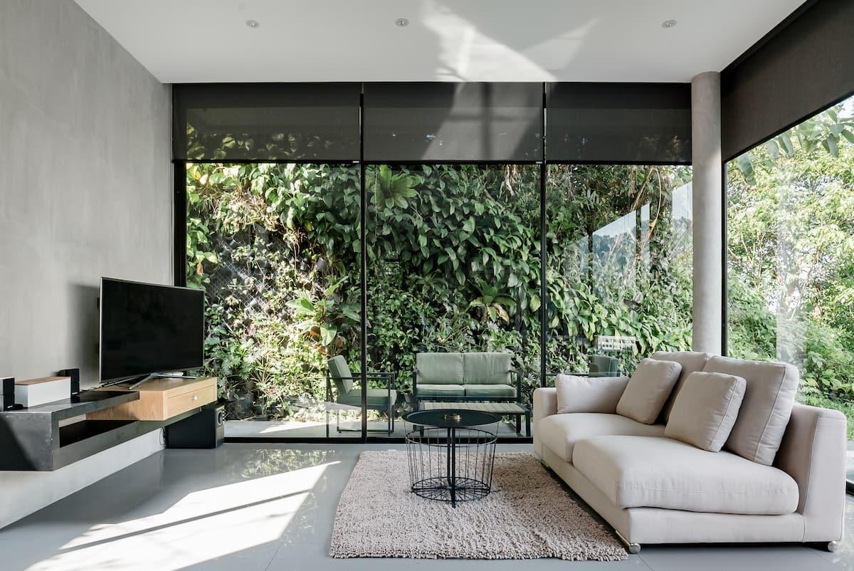 Sleek Hillside Villa with a Pool in Kamala