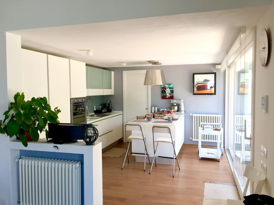 La cucina in un open space - The kitchen that is in an open space