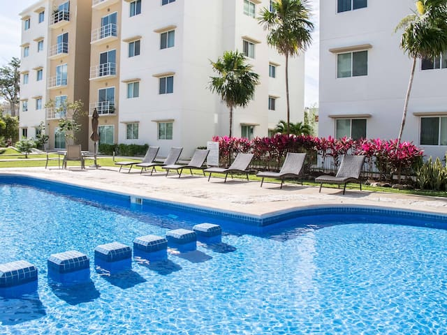 Nice Apartment shared Pool &  2 room - Cancún - Apartment