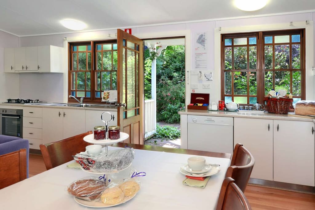 Fully equipped kitchen and light breakfast included