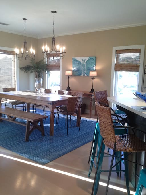 Spacious dining room