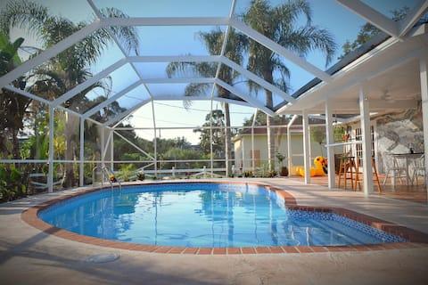 Tropical Sanctuary - Oasis w/ Pool, Pond, & Yard