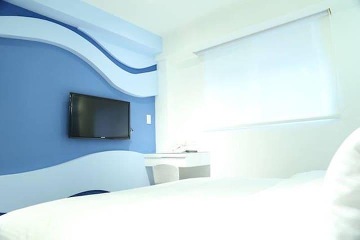 Foreverinn Cozy Apt.near MRT 3min 45D5/double bed