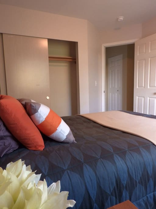 Bedroom opens directly into private bathroom