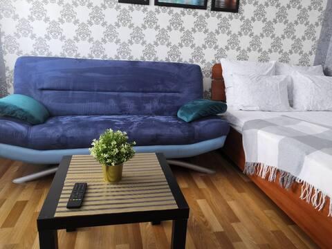 Уютная студия с прекрасным видом на Сосновый бор