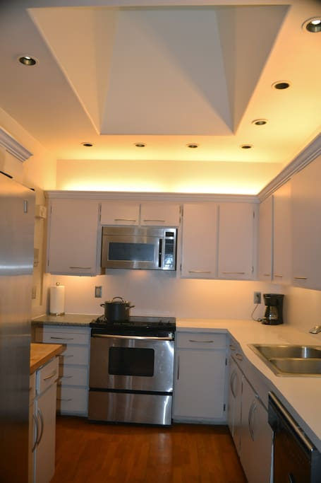 Skylight allows wonderful light to pour in