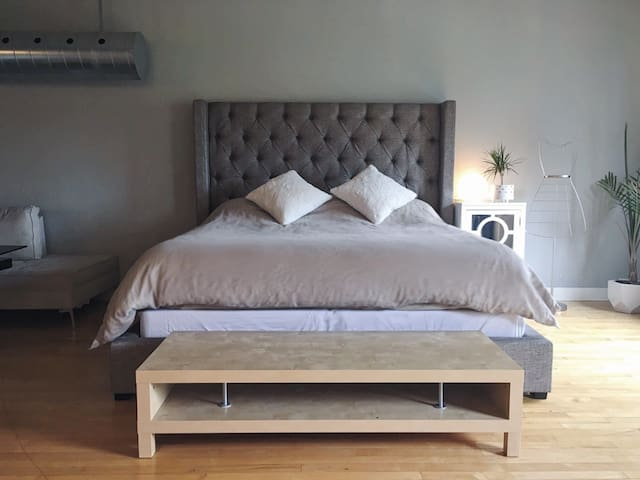Comfortable, King Size Bed.