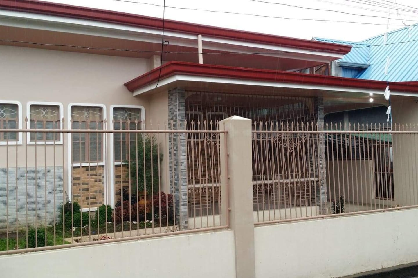 The property has private entrance, fenced and 2-car covered parking space. It is located in a barangay along main access road.
