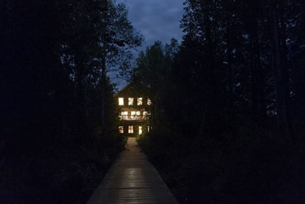 The Barn Cottage at Night