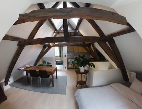 Your own 18th century attic in the center of Ghent