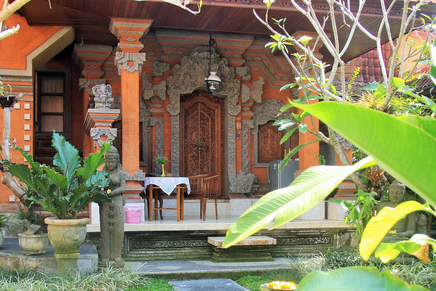 Greenery of Balinese compound.