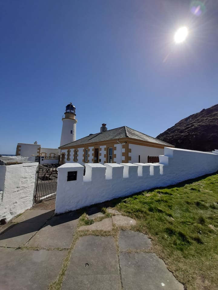 Foghorn cottage with stunning views.