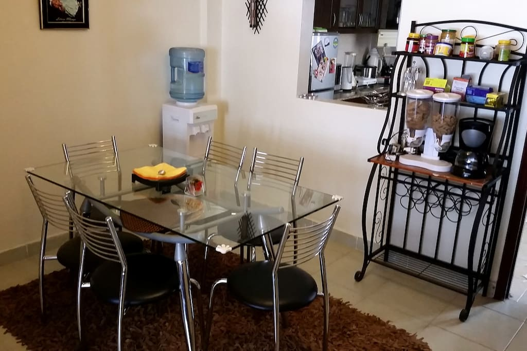 dinning area with mineral water dispenser