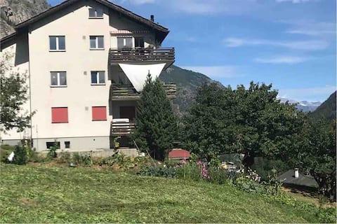 Chez Marthe Blick auf Klein Matterhorn&Permakultur