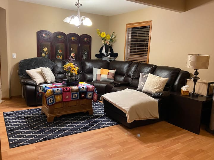 New location a very welcoming spacious house  !!