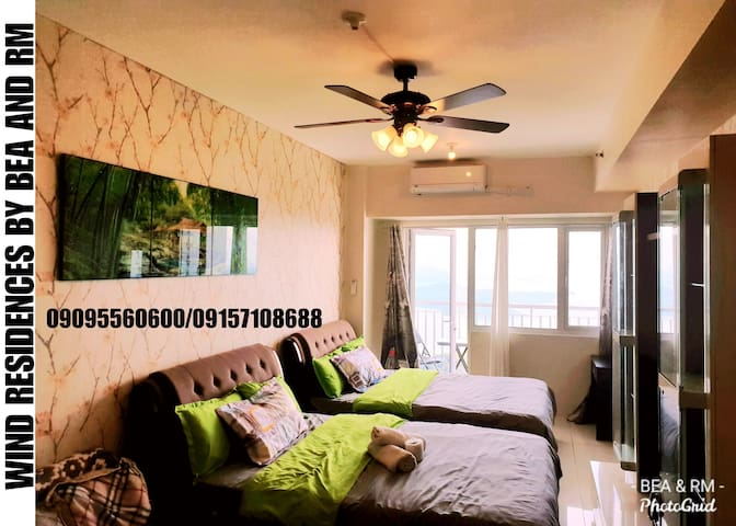 SMDC TAAL VIEW/NETFLIX/CABLE/WIFI/BALCONY/CAN COOK