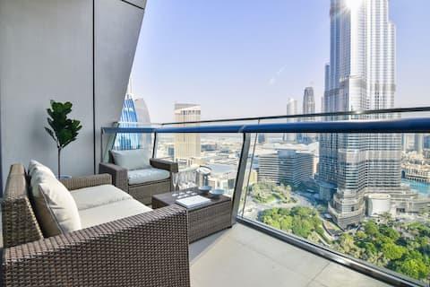 Magical Burj Khalifa view 1BDR apartment