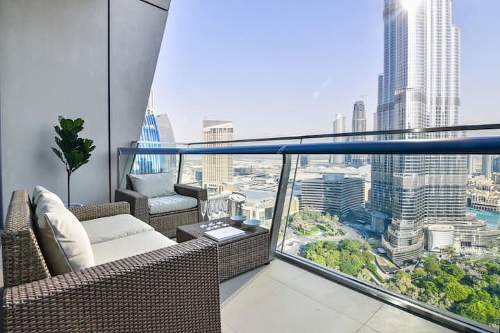 Magical Burj Khalifa view 1BDR apartment