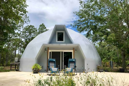 Awesome Geodesic Dome surrounded by nature