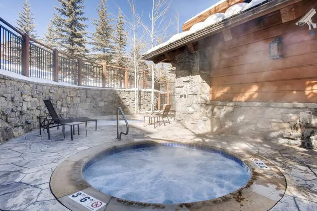 You'll have access to a shared outdoor hot tub--a perfect place to take in the stars at night.