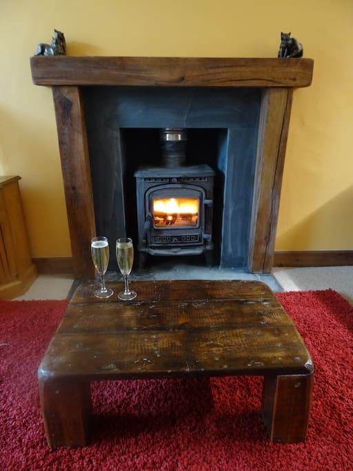 Romantic wood burning stove