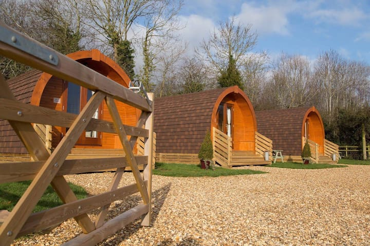 The Badger Sett Glamping Pod at The Norman Knight
