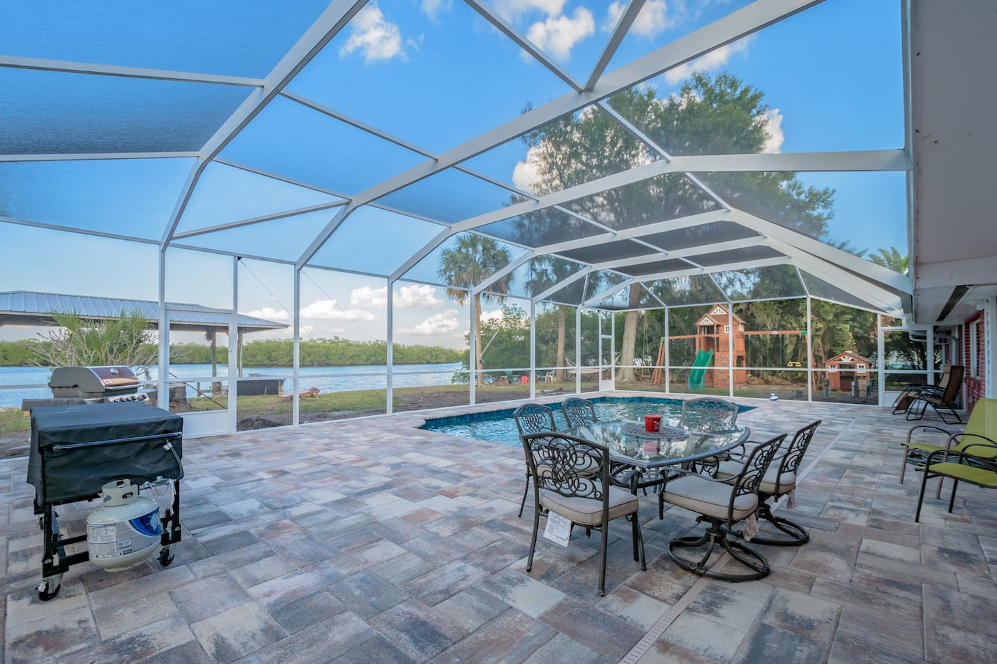 Waterfront Pool Home with Boat Dock- REAL FLORIDA! - Houses for Rent ...