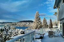 snow view from terrace
