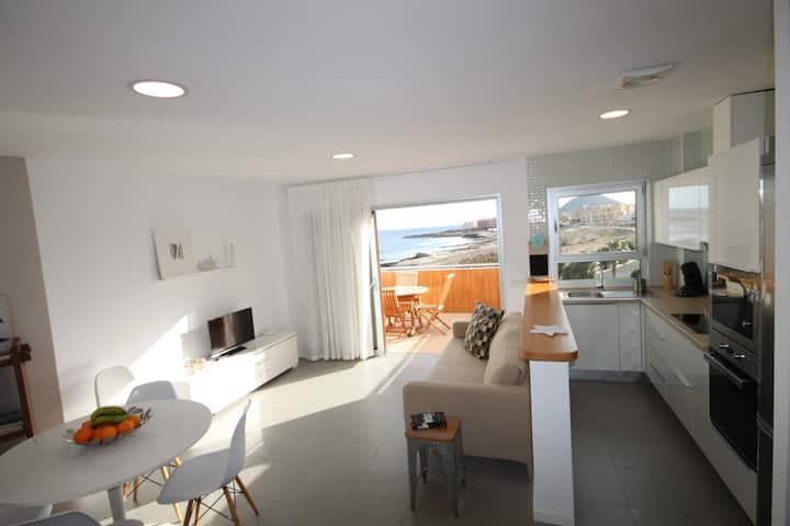 Beach apartment with sea views