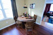 ...and if it's cold out, we have a pretty unique kitchen table to make some memories over a meal…