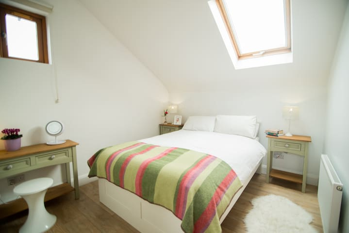 Second Bedroom with double bed - fully fitted wardrobe