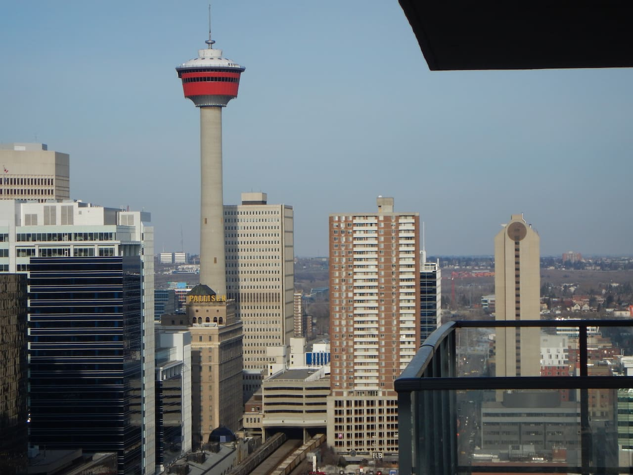 View of Calgary Tower from Balcony