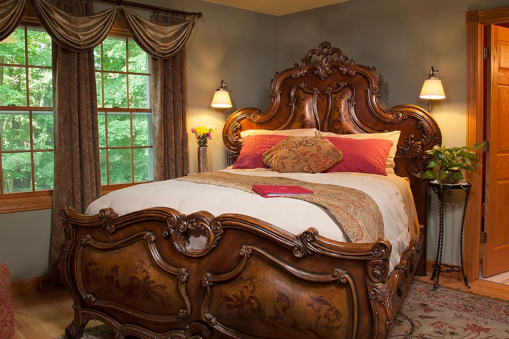 Armani queen bed.