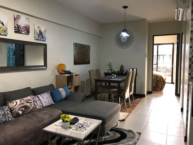 Our Living room is installed with 2.0Hp Split Type AC to make the unit  fully airconditioned for a more comportable stay...