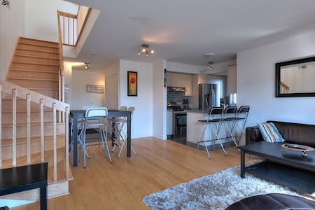 Beautiful new condo by the Lachine Canal/Airport - Társasház