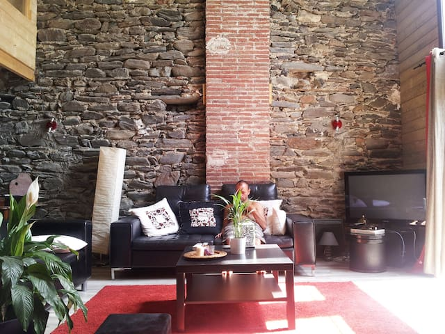 Loft en pierre catalane - Rigarda - House