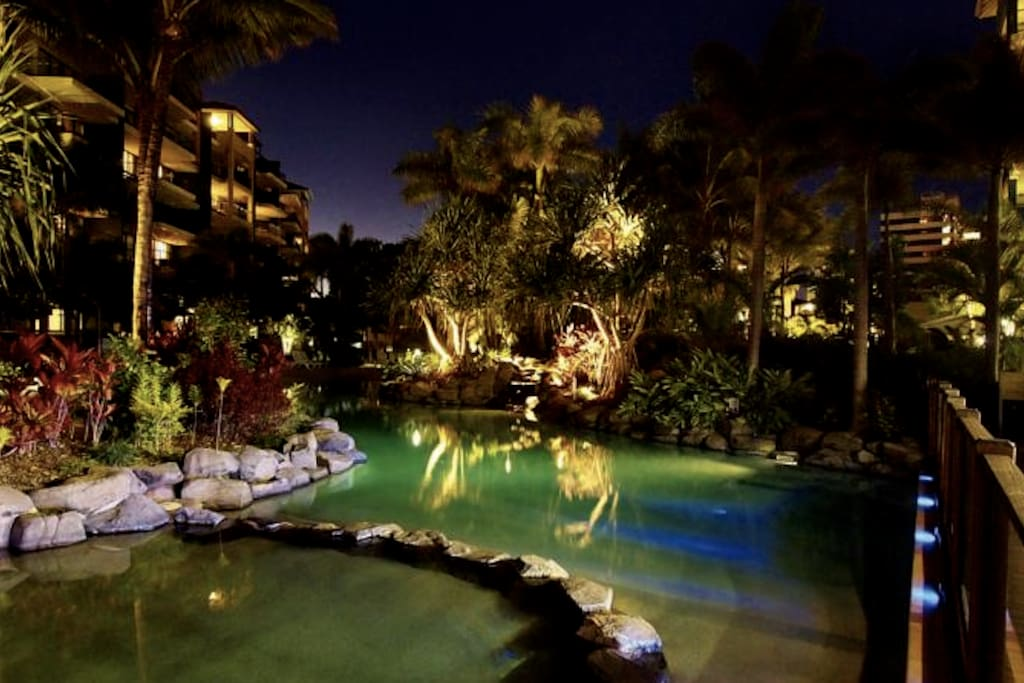 Oakes Seaforth Resort Night View