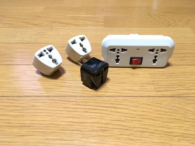 Conversion plug can be borrowed at the front desk.After use it must be returned to the front desk. Limited quantity available.