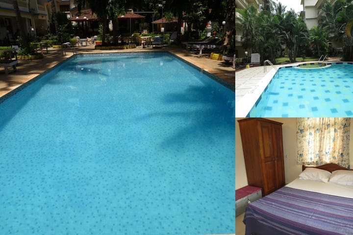 39) 1Bed Apart Central Calangute Sleeps 2/4  WiFi - North Goa - Apartment