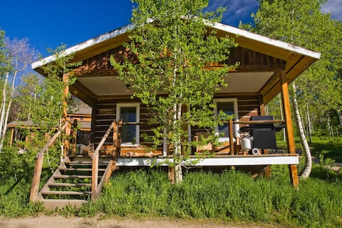 Caron House - A Well-Equipped Square Log Cabin!